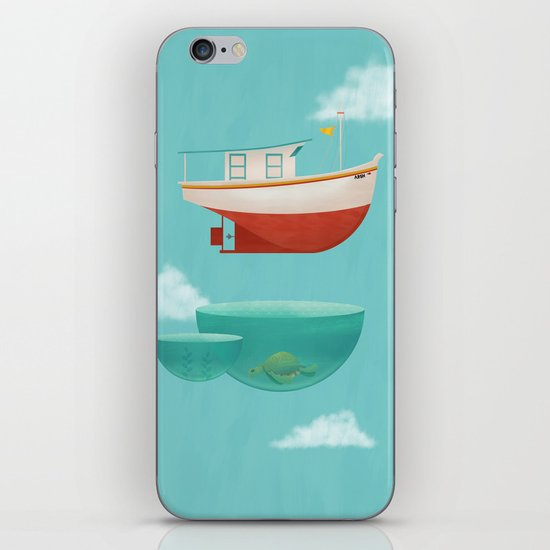 Floating Boat iPhone & iPod Skin