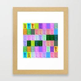 Rainbow Seahorses Framed Art Print
