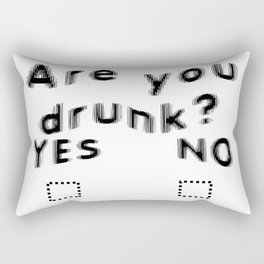 Are You Drunk Test For Partygoers Black Text Rectangular Pillow