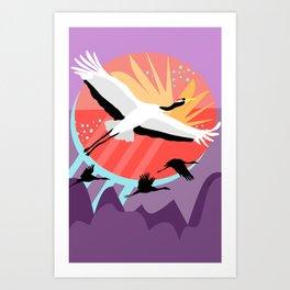 Majestic Crane {4} Art Print