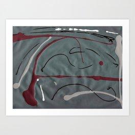 Moody Rains Art Print