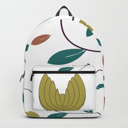 Stylized Flowers Entwine Backpack