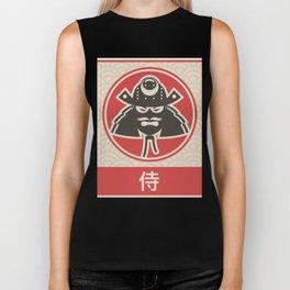 """Samurai"" Vintage Japanese Anime Poster Biker Tank"