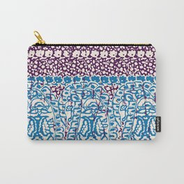 big paisley with floral lines on burgundy Carry-All Pouch