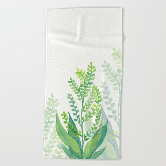 Botanical vibes 06 Beach Towel