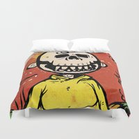charlie brown Duvet Covers featuring Charlie Brown - The Original Pumpkin King by Neil McKinney