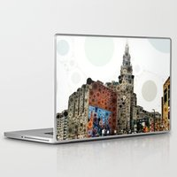cleveland Laptop & iPad Skins featuring Downtown Cleveland by Rachel Barrett