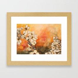Oriental Modern Art Flowers Framed Art Print