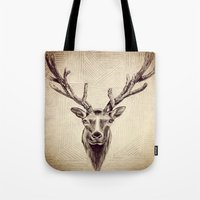 elk Tote Bags featuring Elk  by Werk of Art