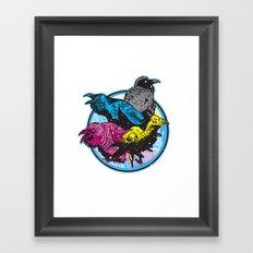 CMYK BIRDS Framed Art Print