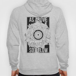 As Above, So Below - Zodiac Illustration Hoody