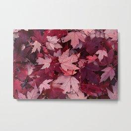 Dark Autumn Leaves Metal Print