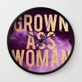 Grown Ass Woman Wall Clock