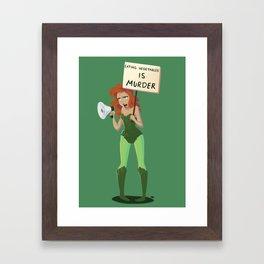 Eating vegetables is murder Framed Art Print