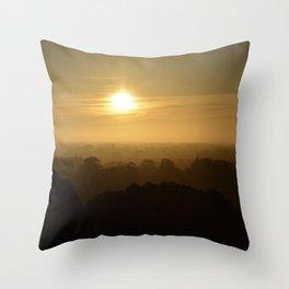 Yellow Sunset Throw Pillow