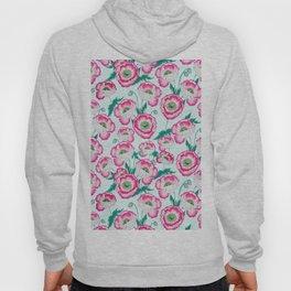 Pink Poppy Flowers Hoody