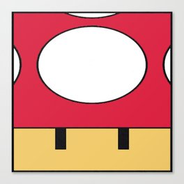 Minimal Toad red Canvas Print