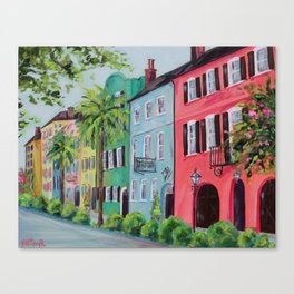 Rainbow Row, Charleston Canvas Print