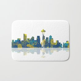 Seattle Washington Skyline Bath Mat