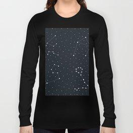 Zodiac Sign Pattern Long Sleeve T-shirt