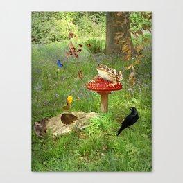 Woodland gazette Canvas Print
