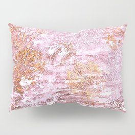Abstract Autumn In Gold-Rosé Pillow Sham