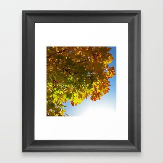 autumn tree III Framed Art Print