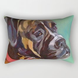 Boxer Dog Keeley Pet Portrait Rectangular Pillow