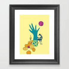 in the desert Framed Art Print