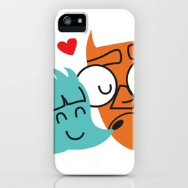Owl and hedgehog iPhone Case