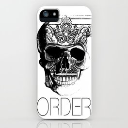 ORDER skull iPhone Case