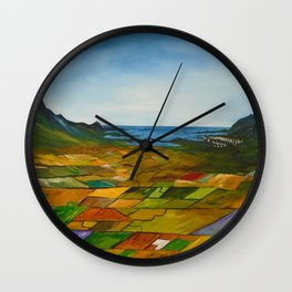 The Fields of Dingle Wall Clock