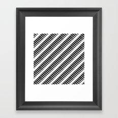 Black and White Tiger Stripes Framed Art Print