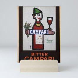 Vintage Bitter Cordial Campari Advertising Poster No. 1 Mini Art Print