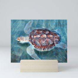 Sea Turtle In The Waves Mini Art Print