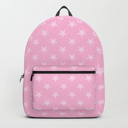 Pink Lace Pink on Cotton Candy Pink Stars Backpack