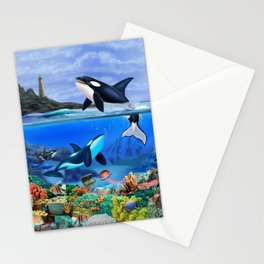 THE ORCA FAMILY Stationery Cards