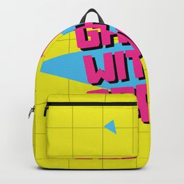 Gag Me With A Spoon Funny 80s Retro Vintage Gifts Backpack