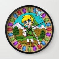 hyrule Wall Clocks featuring Hyrule Adventurer by Crimson Pumpkin