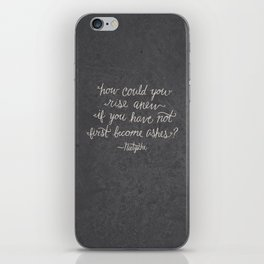 Nietzsche on Rising Anew iPhone Skin