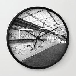URBAN LONDON BLACK AND WHITE PHOTOGRAPH Wall Clock