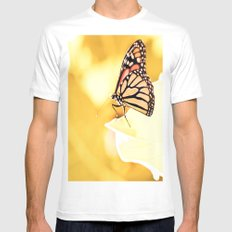 Monarch Mens Fitted Tee MEDIUM White