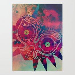 Watercolored Majora's Mask Poster
