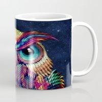 shipping Mugs featuring OWL 2 by Ali GULEC