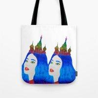 russia Tote Bags featuring Russia by Luna Portnoi