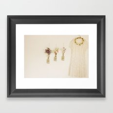 wild and lace Framed Art Print