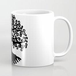 black and white abstract tree of life I Coffee Mug