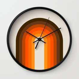 Golden Rainbow Wall Clock