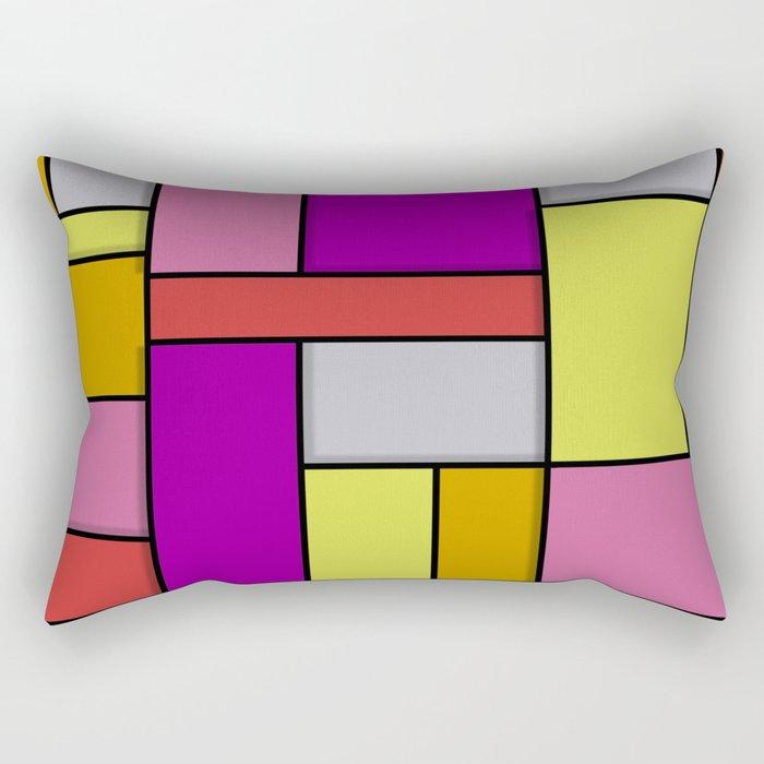 Mondrian #6 Rectangular Pillow