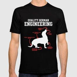 German Dachshund Dog Weiner Engineering Funny Puppy T-shirt